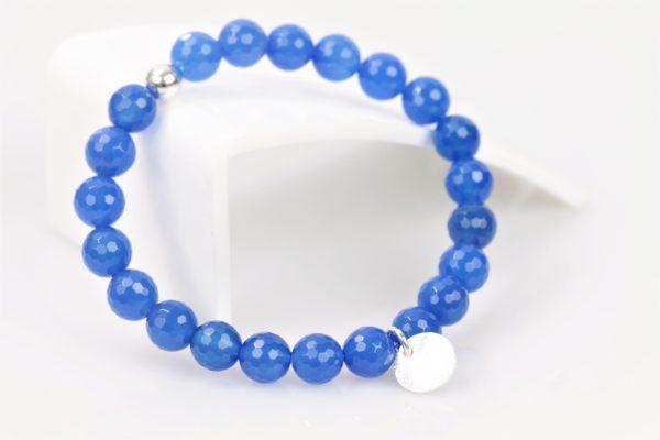 rek armband blauw agaat facet 1