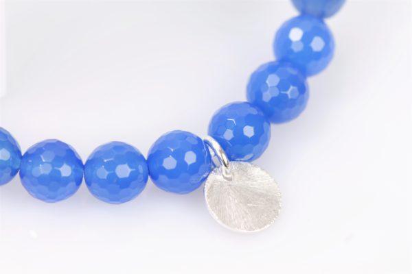 rek armband blauw agaat facet 3